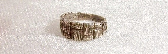 RESERVED for normanhershek - Sterling Silver Ring: Mans Ring - Size 8 1/2 - L1007a