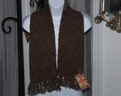 Unisex soft brown scarf