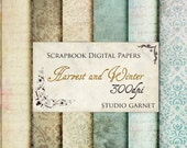 Harvest and Winter- Digital Paper for Scrapbooks, graphics, decoration, backgrounds, invitation