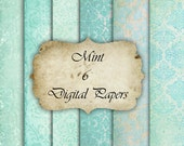MInt- Digital Paper for Scrapbooks, graphics, decoration, backgrounds, invitation