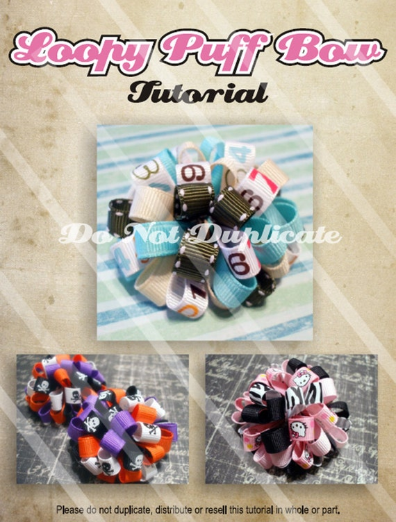 Hairbow Tutorial How To Make Loopy Puff Bows