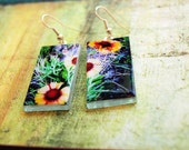 Blanketflower Earrings- iPhone Photograph on Rectangle Glass