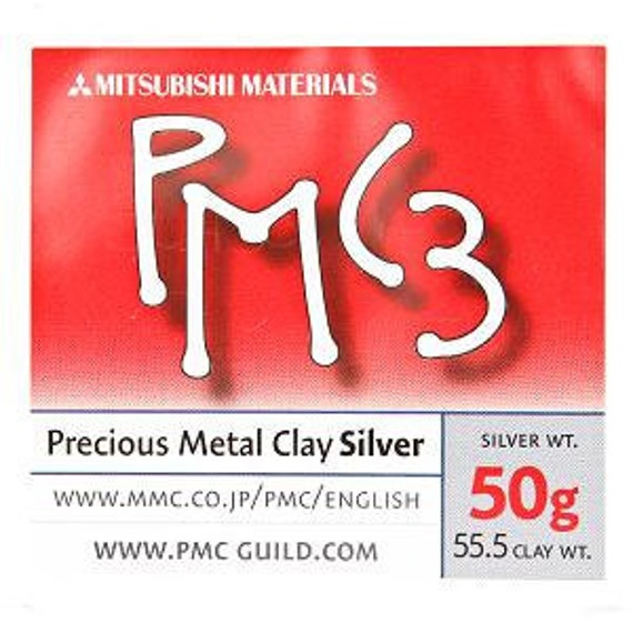 50g Mitsubishi PMC3 Precious Metal Clay - Fine Silver - FREE SHIPPING