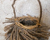 Twig Basket Woodland Rustic Shabby Chic Country Cottage Lodge Decor