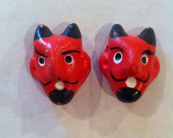 Two Devil Clay Beads