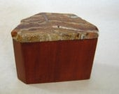 Wooden Box with Stone Lid