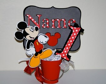 Mickey Mouse Birthday Centerpiece Cutouts - Party Decoration, Disney, Table Decoration, Partyware