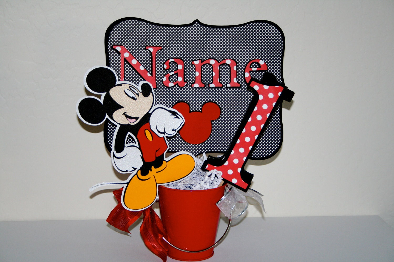Mickey Mouse Birthday Centerpiece Cutouts Party Decoration