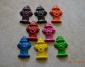 Recycled Crayon Party Favor - Fire hydrant  8 count
