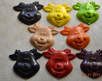 Recycled Crayon Party Favor - Reindeer 8 count