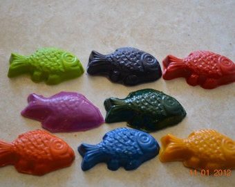 Recycled Crayon Party Favor - Fish 8 count