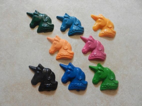 Recycled Crayon Party Favor - Unicorn 8 count