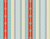 Cotton Fabric Blue / Riley Blake - Blue Delighted Stripe