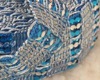 Metallic Embroidery Sari Border Trim