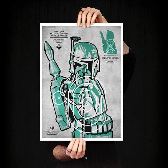 Star Wars Boba Fett Art Print. Limited edition poster
