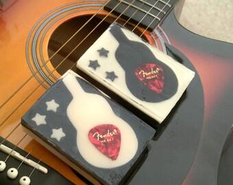 Guitar Pick Soap.  Novelty Soap.  Decorative Soap. Designer Soap. Made to Order.