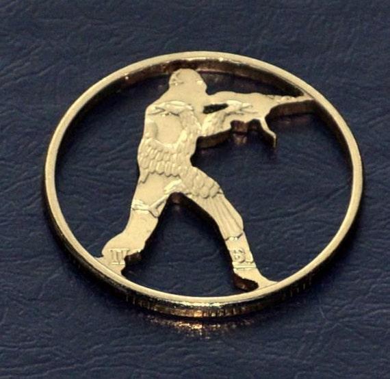 Cut coin charm. Counter Strike fan art.
