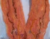 Cobweb Felted Orange Scarf