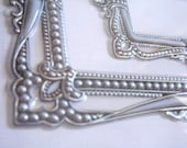 Frame ornate embrossed antic silver vintage victorian style