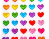 Hearts stickers 50 pieces