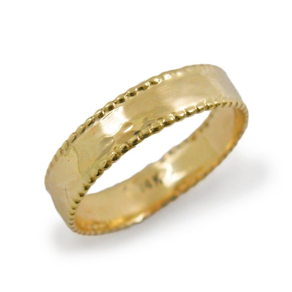 Majestic wedding ring. Gold wedding ring. Thin wedding ring. Hammered  wedding ring. 14k yellow gold wedding ring. Gold ring. (gr-9302).