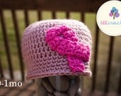 Pink Breast Cancer Awareness Ribbon Beanie- FREE Ship to USA and Canada - 1 Dollar of Your Purchase Will Be Donated to Susan G. Komen