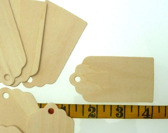 20 wooden tags for altered art / mixed media art  7.7 cm long  by 4.2 cm wide