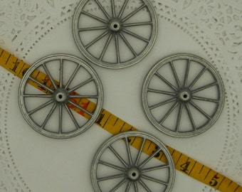 4-2 1/2 inch toy  spoked metal wheels