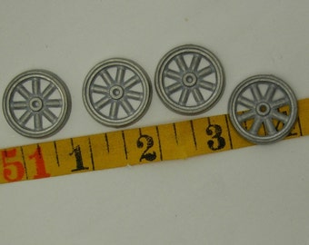 4-1 inch spoked  toy metal wheels