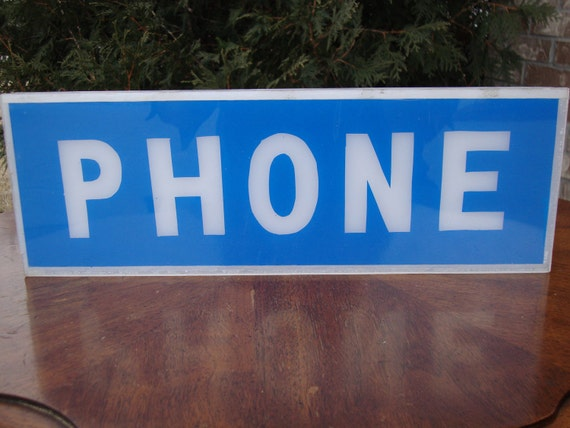 Telephone Booth Phone Sign
