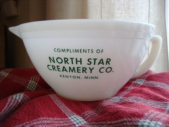 Vintage Federal Glass Advertising Batter Bowl