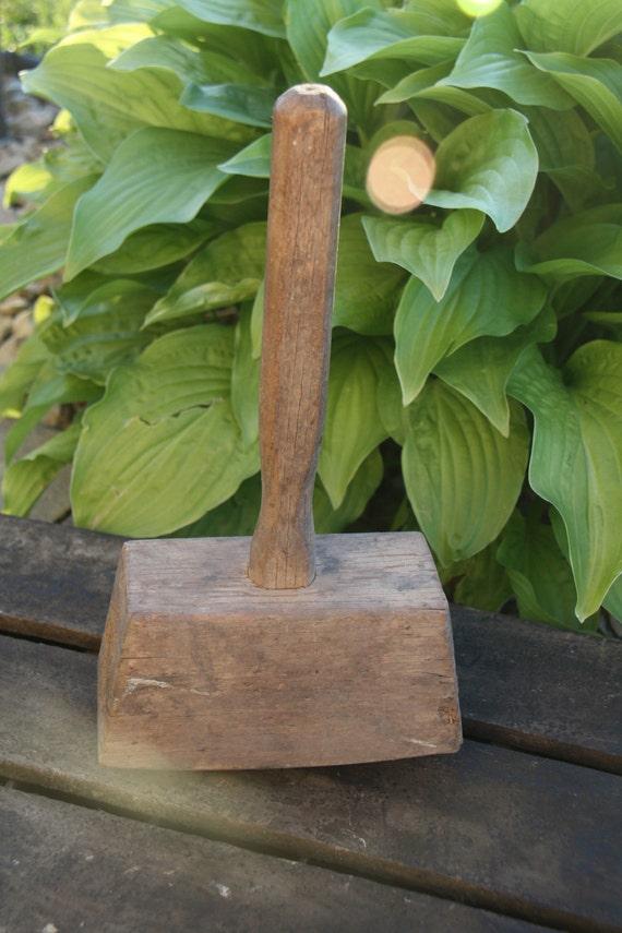 Antique Wood Mallet Hammer