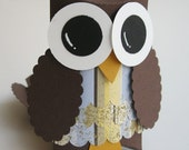 Owl Favor Boxes- Baby Shower Decorations-Owl Birthday..set of 12