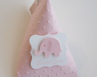 Pink Elephant Baby Shower Favors - Birthday Party Favors..set of 12