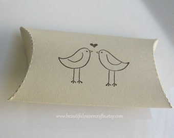 Love Birds Favor Boxes- Wedding Table Decorations - Wedding Favors - Bridal Showers - Made To Order