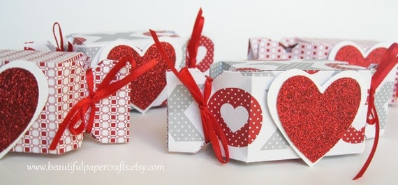 Valentine Treat Boxes - Birthday Party Favors - Party Favors-