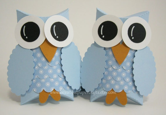 Owl Favor Boxes- Baby Shower Decorations -  Owl Birthday Party