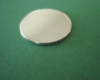 QTY 25 Metal circle disk blank for stamping 14 Gauge pure Aluminum 1.5 inch circle QTY 25