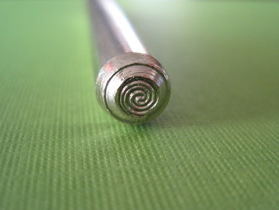 Swirl Metal Design Stamp for Handstamping Personalized Jewelry - Spiral Metal Design Stamp