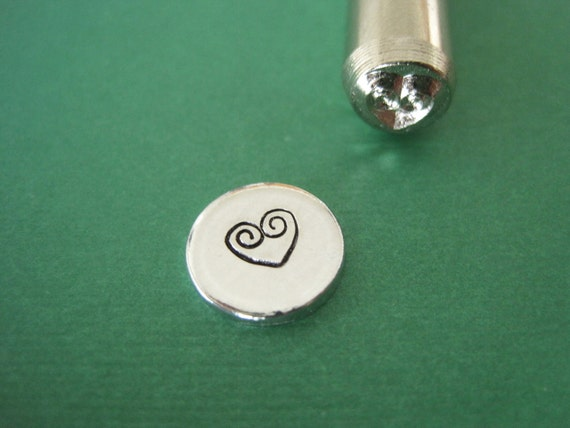 Ornate heart Design Stamp for Hand stamped Jewelry making