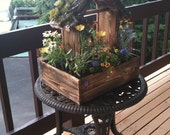 Beautiful Cedar Flower Planter / Bird Feeder