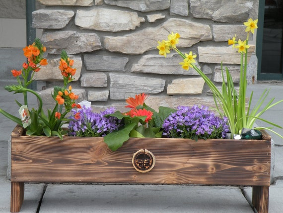 Custom Handmade Decorative Cedar Flower Planter or Herb Garden