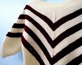 Vintage Chevron Striped Toddler Sweater