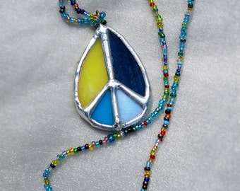 Peace Pendant - Stained Glass