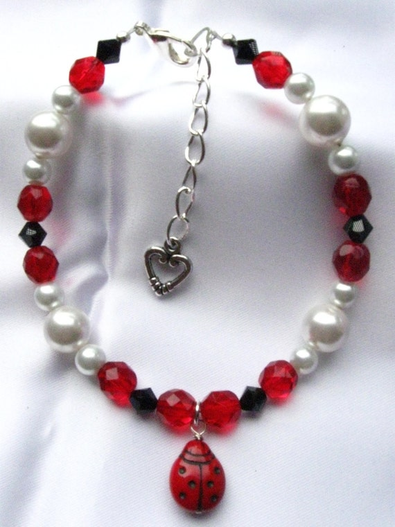 Lady Bug Pet Necklace