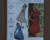 Misses Retro Burda Dress Pattern 8954 Sizes 8-16 1980s
