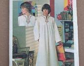 Retro 1970's Vintage Butterick Pattern 4560 Misses Sensational pull over caftan Size 12