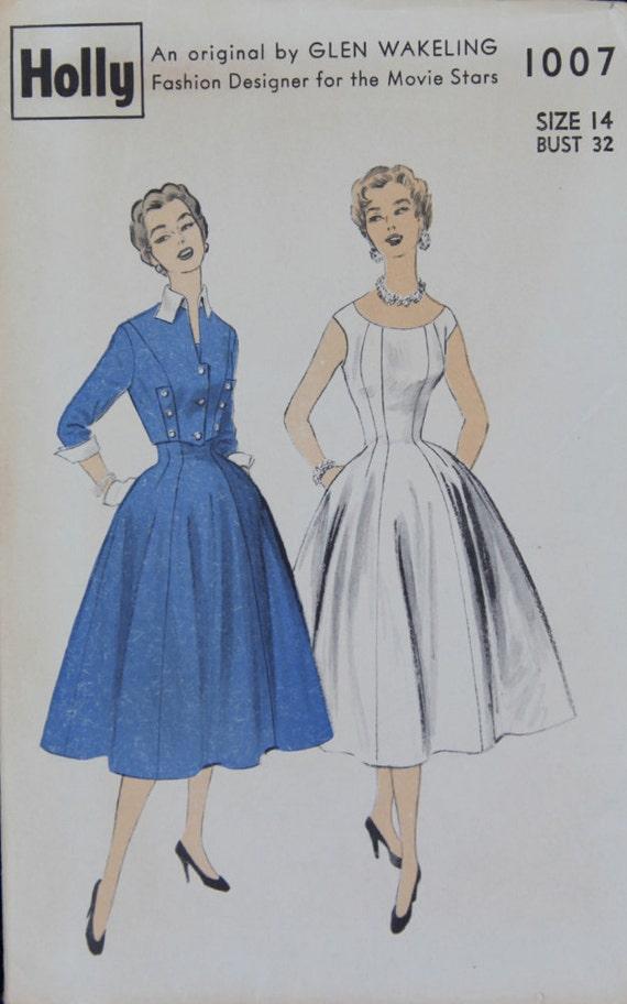1940's Vintage Pattern Glen Wakeling fashion designer for the Movie Stars Holly 1007