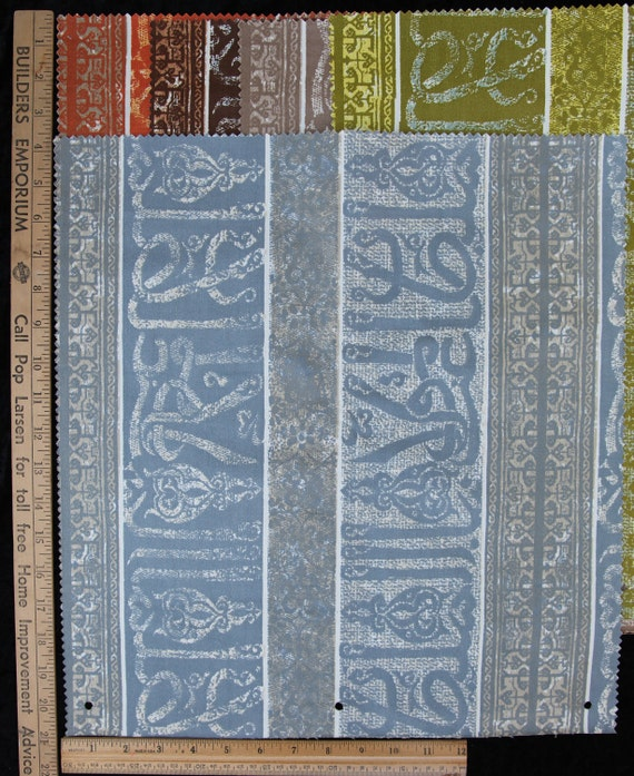 Vintage  Fabric Bundle Remnant Swatch Adriana