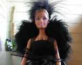Doll Angel Wings - black - Ready to Ship